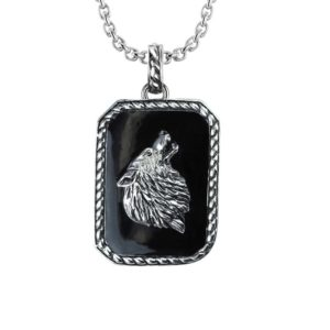 Stylish 925 Sterling Silver Wolf Pendant