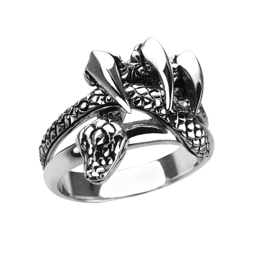 Serpent Claws Ring in Sterling Silver